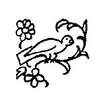 Bird in Flower Arbor